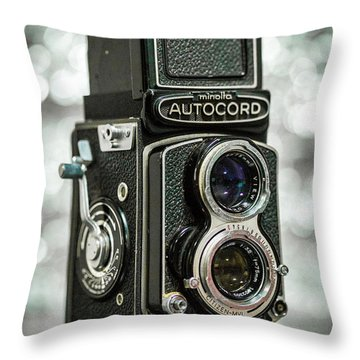 Throw Pillow featuring the photograph Autocord by Keith Hawley