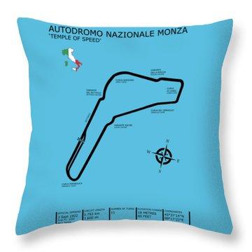 Autodromo Nazionale Monza Throw Pillow by Mark Rogan