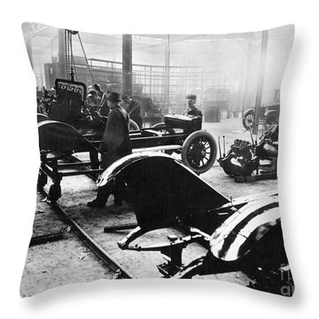 Automobile Manufacturing Throw Pillow by Granger