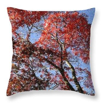 Autum Trees Illustrated Throw Pillow