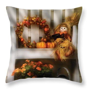 Autumn - Still Life - Symbols Of Autumn  Throw Pillow by Mike Savad