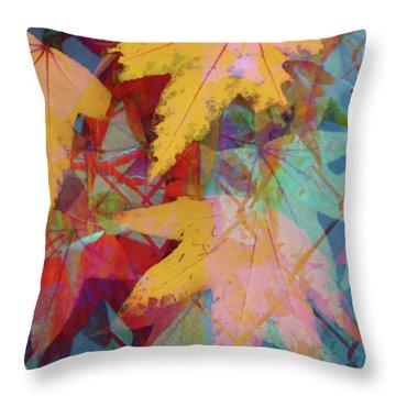 Autumn Abstract Throw Pillow by Robert Ball