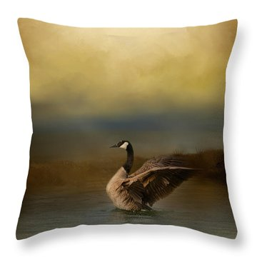 Autumn Afternoon Splash Throw Pillow