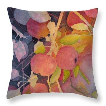 Autumn Apples Throw Pillow