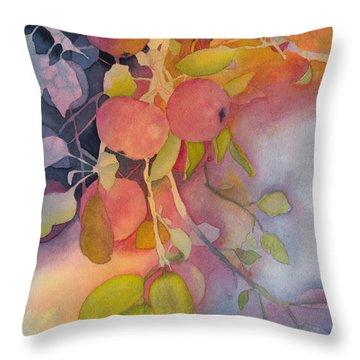 Autumn Apples Full Painting Throw Pillow