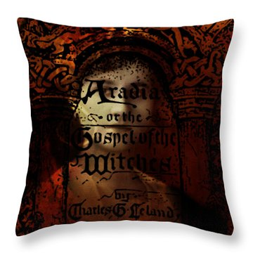 Autumn Aradia Witches Gospel Throw Pillow by Rebecca Sherman