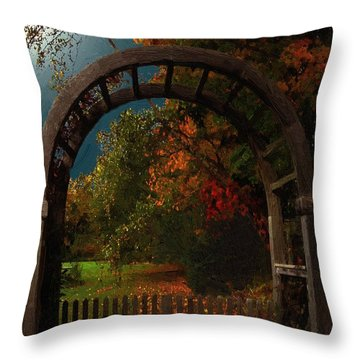 Autumn Archway Throw Pillow