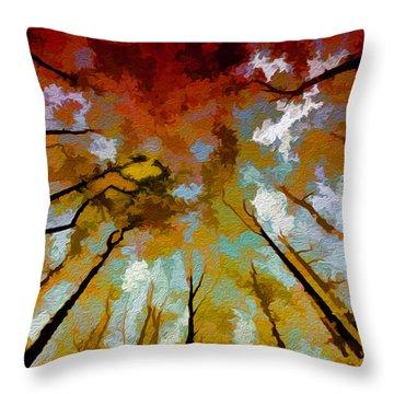 Autumn Ascent Throw Pillow