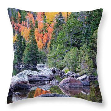 Throw Pillow featuring the photograph Autumn At Bear Lake by David Chandler