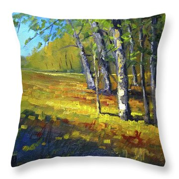 Autumn At Bloedel Throw Pillow