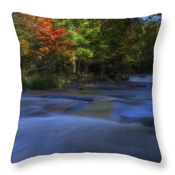 Throw Pillow featuring the photograph Autumn At Bond Falls by Heather Kenward