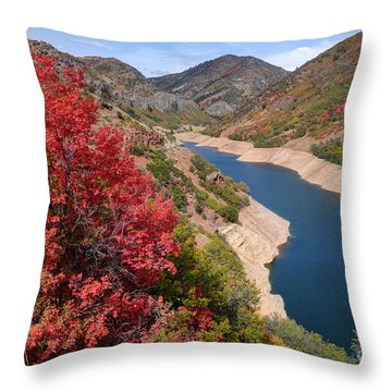Autumn At Causey Reservoir - Utah Throw Pillow