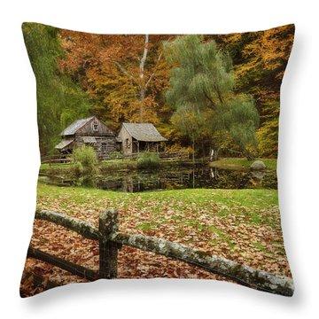 Autumn At Cuttalossa Farm V Throw Pillow