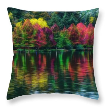 Autumn At Green Lake Seattle Throw Pillow