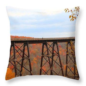 Autumn At Kinzua Bridge Throw Pillow