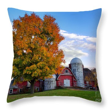 Throw Pillow featuring the photograph Autumn At Lusscroft Farm by Mark Miller