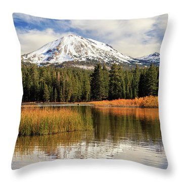 Autumn At Mount Lassen Throw Pillow