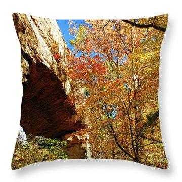 Autumn At Natural Bridge State Resort Throw Pillow