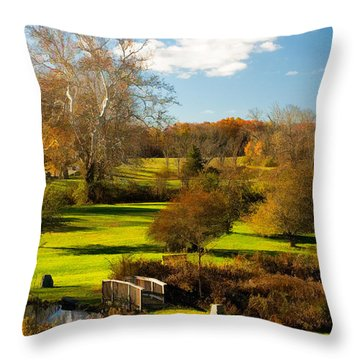 Autumn At Ringwood Manor Throw Pillow