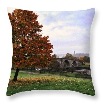 Autumn At Stirling Bridge Throw Pillow by RKAB Works