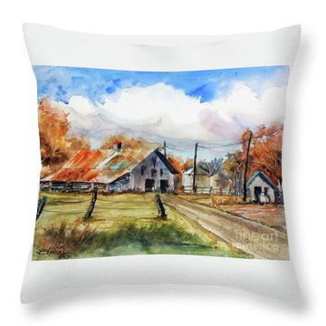 Autumn At The Farm Throw Pillow by Ron Stephens