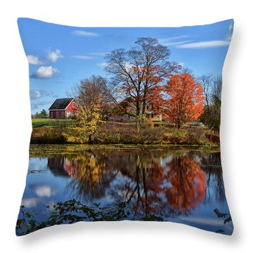 Autumn At The Farm Throw Pillow