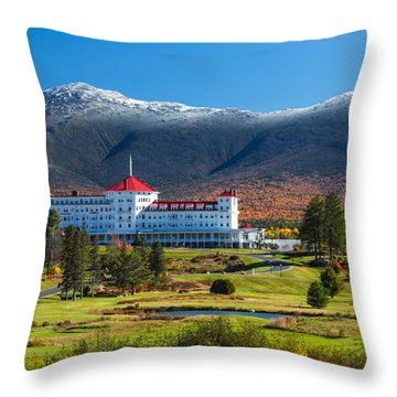 Autumn At The Mount Washington Crop Throw Pillow