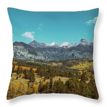 Autumn At The Weminuche Bells Throw Pillow