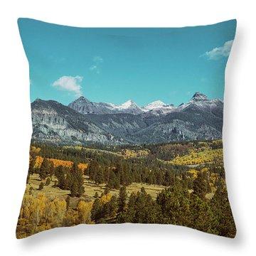 Autumn At The Weminuche Bells Throw Pillow