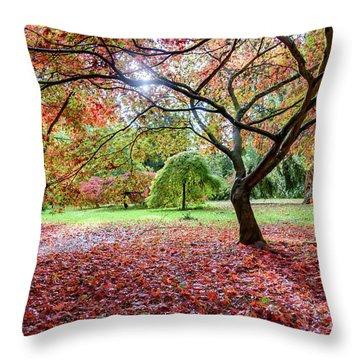 Autumn At Westonbirt Arboretum Throw Pillow