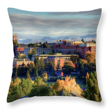Autumn At Wsu Throw Pillow