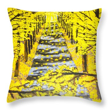 Autumn Avenue Throw Pillow
