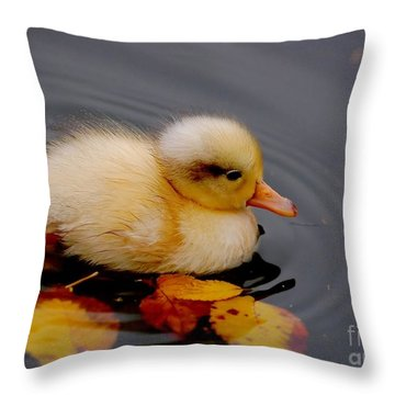 Autumn Baby Throw Pillow by Jacky Gerritsen