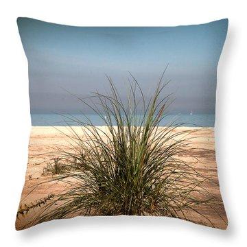 Autumn Beach Throw Pillow