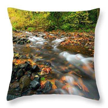 Autumn Beneath Throw Pillow by Mike  Dawson