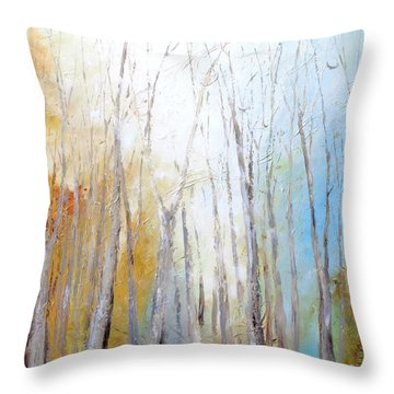 Throw Pillow featuring the painting Autumn Bliss by Dina Dargo