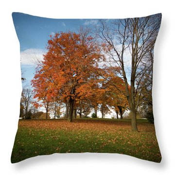 Throw Pillow featuring the photograph Autumn Bliss by Kimberly Mackowski