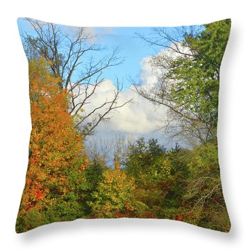 Autumn Breeze Nature Art Throw Pillow