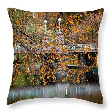 Autumn Bridge Throw Pillow by Susan Cole Kelly