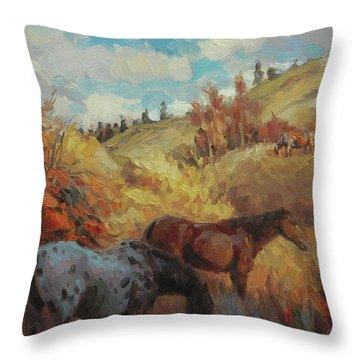 Autumn Browsing Throw Pillow