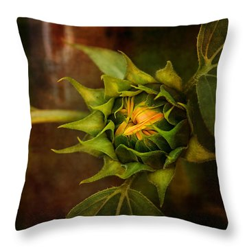 Autumn Bud Throw Pillow