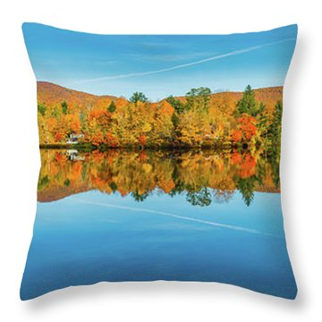 Autumn By The Lake Throw Pillow