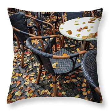 Throw Pillow featuring the photograph Autumn Cafe by Elena Elisseeva