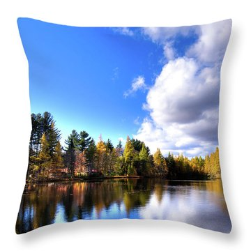 Throw Pillow featuring the photograph Autumn Calm At Woodcraft Camp by David Patterson
