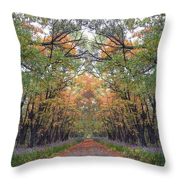 Autumn Canopy Throw Pillow by Cedric Hampton
