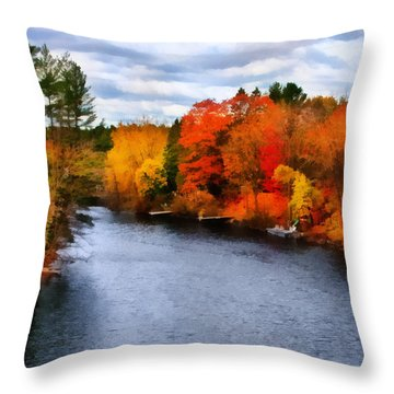 Autumn Channel Throw Pillow