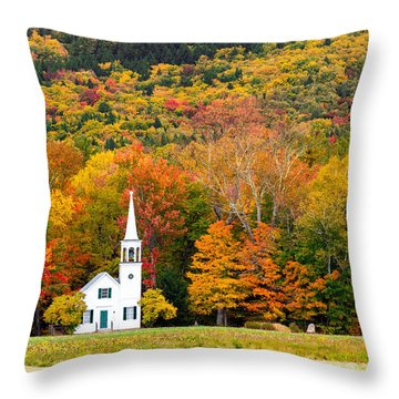 Throw Pillow featuring the photograph Autumn Chapel by Robert Clifford