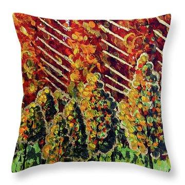 Autumn Christmas Throw Pillow
