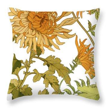 Autumn Chrysanthemums I Throw Pillow