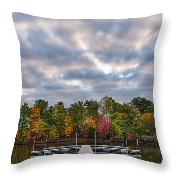 Autumn Colors At The Lake Throw Pillow